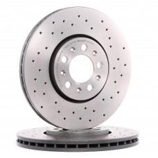 Спирачен диск преден Ф288х25 5/100 Brembo двойно вентилиран
