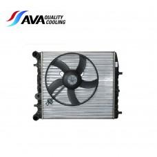 Радиатор охлаждане 430х413х23 с мотор Fabia Roomster Rapid